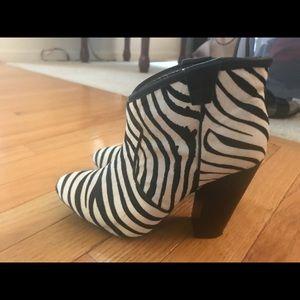 Boots, Calf hair zebra